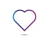 Ligne de coeur icône loupe Vecteur illustration libre de droits