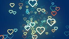 Ligne de coeurs de fond abstrait Image stock