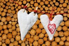ligne de coeurs lavage d'amour Photo libre de droits
