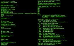 Ligne de commande interface, vue de face, commande terminale, cli Coquille de coup d'UNIX photos libres de droits