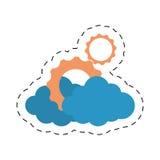 ligne de coupe de technologie d'entreprise constituée en société de vitesse de nuage illustration de vecteur