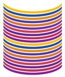 Ligne de courbe en arc-en-ciel de couleur Contexte graphique de vecteur illustration stock