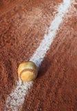 Ligne de craie de boule de base-ball Image libre de droits
