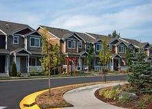 Ligne de Cuved des maisons urbaines modernes Photo libre de droits