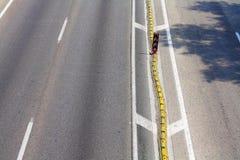 Ligne de démarcation de courbe Photos stock