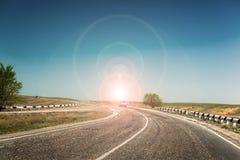 Ligne de démarcation de route Photos libres de droits