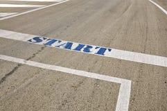Ligne de départ de Targa Florio, Cerda, Sicile Image libre de droits