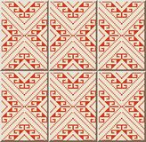 Ligne de Diamond Geometry Cross Frame Dot de contrôle de modèle de carreau de céramique illustration stock