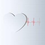 Ligne de durée venant du coeur illustration de vecteur