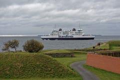 Ligne de ferry entre le Danemark et la Suède Images stock