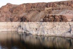 Ligne de flottaison le Lake Mead image libre de droits