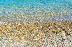 Ligne de flottaison sur la plage de Kemer Photos stock