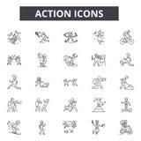 Ligne de fonction icônes Signes Editable de course Icônes de concept : affaires, stratégie, succès etc. Illustrations d'ensemble  illustration stock
