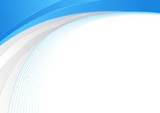 Ligne de frontière abstraite bleue et argentée de vague calibre de certificat illustration stock