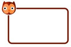 Ligne de frontière simple avec Owl Face Photo libre de droits