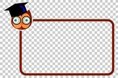 Ligne de frontière simple avec Owl Face Image libre de droits