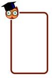 Ligne de frontière simple avec Owl Face Images stock
