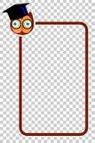Ligne de frontière simple avec Owl Face Photo stock