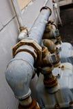 Ligne de gaz rouillée Photos stock