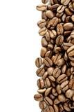 Ligne de grains de café de Brown Images libres de droits