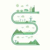 Ligne de graphique d'énergie renouvelable Images libres de droits