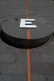 ligne de l'équateur Image libre de droits