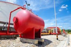 Ligne de l'eau et de mousse pour le système de lutte anti-incendie Photos stock
