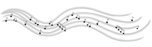 Ligne de la musique Image libre de droits