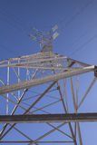 Ligne de la transmission tower Photos stock