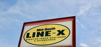 Ligne X de Mi-sud images stock