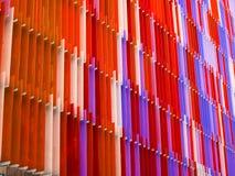 ligne de niveau de l'intérieur sept en plastique acryliques de feuille et orange de couleur Photographie stock
