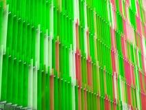 ligne de niveau de l'intérieur sept en plastique acryliques de feuille et pomme de couleur Image stock