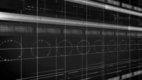 Ligne de nombres BOUCLE du fond 4K de technologie de cercle illustration stock