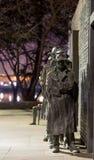 Ligne de pain au mémorial de FDR Photo libre de droits