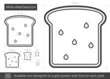 Ligne de pain de blé entier icône Image libre de droits