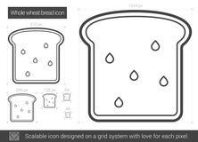 Ligne de pain de blé entier icône Images stock