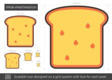 Ligne de pain de blé entier icône Photo stock
