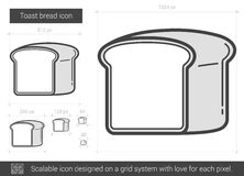 Ligne de pain de pain grillé icône Photographie stock libre de droits