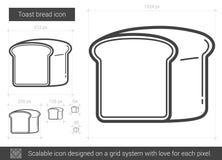 Ligne de pain de pain grillé icône Images stock