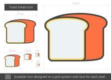 Ligne de pain de pain grillé icône Images libres de droits