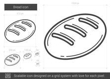 Ligne de pain icône Images libres de droits