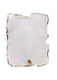 Ligne de papier brûlée images libres de droits