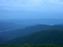 Ligne de partage d'Asheville au crépuscule Image libre de droits