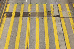 Ligne de passage piéton d'en haut Photographie stock libre de droits