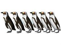 Ligne de pingouin Images libres de droits