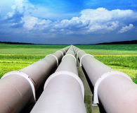 Ligne de pipe de gaz Photos stock
