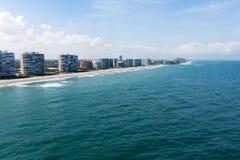 Ligne de plage de Boca Raton Images libres de droits