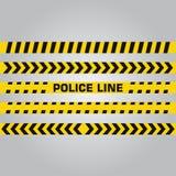 Ligne de police et bande de danger Bande de précaution Photographie stock libre de droits
