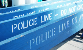 Ligne de police - ne croisez pas Photos stock
