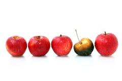 ligne de pommes photographie stock libre de droits